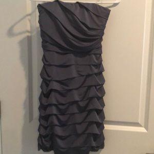 Strapless grey dress